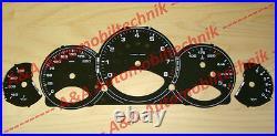 1 Set Dials/Speedometer discs/gauges Porsche 997 911 MK1/MK2 MT black US MPH