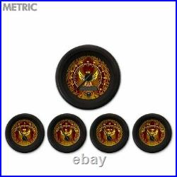 5 Gauge Set Speedo H2O Oil Temp FuelVolt Phoenix Series Black LED 043BC Metric