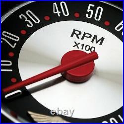 5 Gauge Set Speedo Water Oil Temp FuelVolt Red Black LED SAE Retro Rodder III
