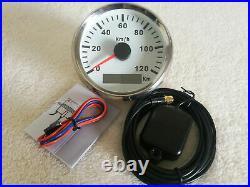 6 Gauge Set, 120KM Speedo, Tacho, Fuel, Water Temperature, Volt, Oil Pressure, Red LED