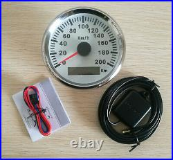 6 Gauge Set, 200KPH Black Speedo Tacho Fuel Volt Meter Oil Pressure Temp Red LED