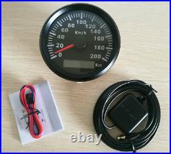 6 Gauge Set 200KPH Black Speedo Tacho Fuel Volts Meter Oil Pressure Temp Red LED