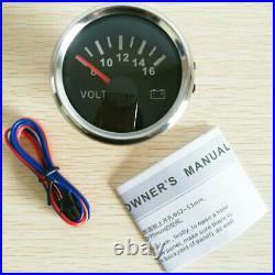 6 Gauge Set 200KPH Speedo Tacho Fuel Volt Oil pressure Temp For Car Marine Black