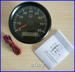 6 Gauge Set 200MPH/300KPH Speedo Tacho Fuel Volts Meter Oil Pressure Temp Black