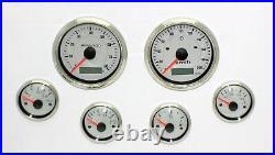 6 Gauge Set Electronic + Programmable Speedo Sender Vintage Beige Hot Rod Ford