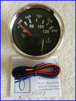 6 Gauge Set, Speedo 200MPH KPH Odo, Tacho, Fuel Level, Water Temp, Volt, Oil Pressure