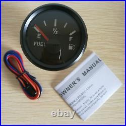 6 Gauge Set, Speedo 35MPH 60KM/H, Tachometer, Fuel, Volts, Oil Pressure, Temp, Red LED
