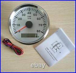 6 Gauge Set White 200KPH Speedo Tacho Fuel Volt Meter Oil Pressure Temp Red Bulb
