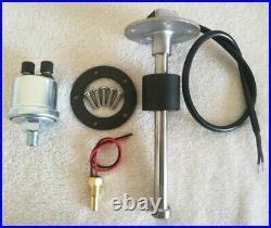 6 Gauge Set With Sender, 200MPH Speedo, Tacho, Fuel, Temp, Volts, Oil Pressure Black