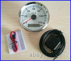 6 Gauge set 120KPH Speedo Tacho Fuel Volts Meter Oil Pressure Temp White Red LED
