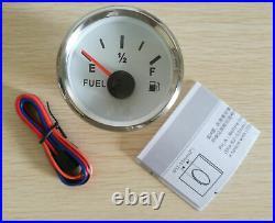 6 Gauge set 200KPH Speedo Tacho Fuel Volts Meter Oil Pressure Temp White Red LED
