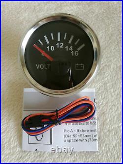 6 Gauge set, 200MPH 300KPH GPS 85MM Speedo, Tacho, Fuel, WaterTemp, Volt, Oil Pressure