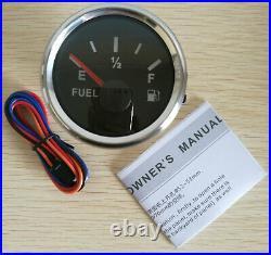 6 Gauge set, 200MPH 300KPH Speedo ODO, Tacho, Fuel Volts Oil Pressure Temp Black