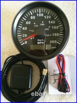 6 Gauge set, 200MPH 300KPH Speedo, Tacho, Fuel Level, Water Temp, Volts, Oil Pressure