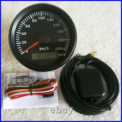 6 Gauge set 85mm 200kph gps speedo tacho fuel water temp volt oil pressure black