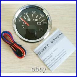 6 Gauge set, Black 200KPH Speedo Tacho Fuel Volts Meter Oil Pressure Temp Red Led