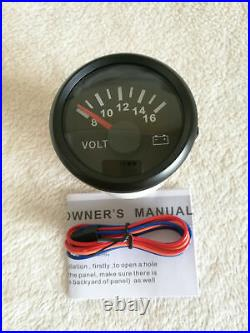6 Gauge set, GPS 200MPH Speedo With Light, Tacho, Fuel, Temp, Volt, Oil Pressure Black