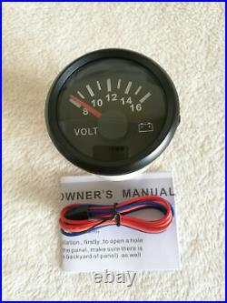 6 Gauge set, Speedo, 120MPH Tacho, Fuel Level, Water Temperature, Volt, Oil Pressure