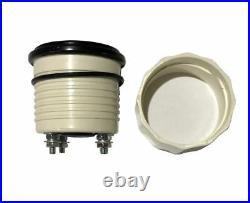 6 Gauge set, Speedo, Tacho (8KRPM), Oil, Temp, Fuel, Volt, black/black bezel, 001BB