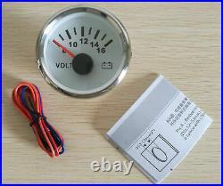 6 Gauge set, White 160MPH Speedo Tacho Fuel Volt Meter Oil Pressure Temp Red LED