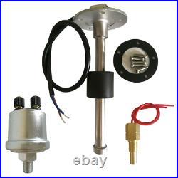 6 Gauge set with Senders 200KPH Speedo Tacho Fuel Volt Oil Pressure Temp Red Led