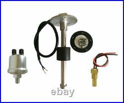 6 Gauge set with Senders 200KPH Speedo Tachometer Fuel Volts Oil Pressure Temp