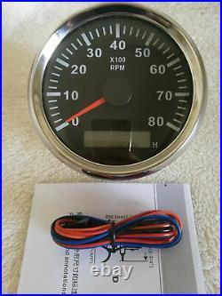 6 Gauge set with sender, 85MM GPS 200KPH Speedo, Tacho, Fuel, Temp, Volt, Oil Pressure