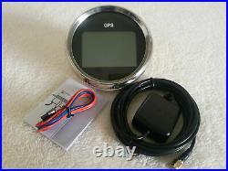 6 Gauge set with sender, 85MM GPS Speedo, Tacho, Fuel, Temp, Volt, Oil Pressure Black