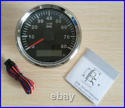 6 Gauge set with sender Speedo 0-200MPH Tacho Fuel Volt meter Oil pressure Temp
