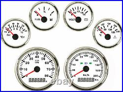 6 Gauge set with senders 200km/h Speedo Tachometer Fuel Volts Oil pressure Temp