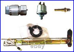 6 Gauge set with senders, Speedo, Tacho, Oil, Temp, Fuel, Volt, white/chrome, 043WC-S
