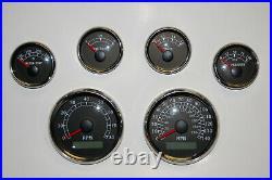 6 Gauge set witho senders, Speedo, Tacho, Oil, Temp, Fuel, Volt, BWR