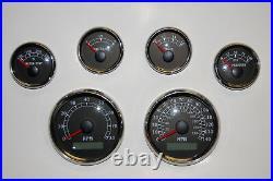 6 Gauge set withsenders, Speedo, Tacho, Oil, Temp, Fuel, Volt, BWGreen