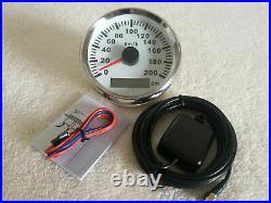 6 gauge set with senders 200km/h speedo tacho fuel temp volts oil pressure white