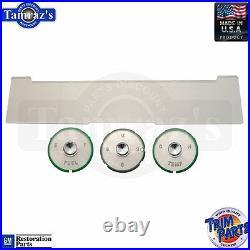 61-62 Chevy Impala Dash Instrument Speedo Fuel Temp Borg Clock Gauge Lens Set