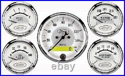 Auto Meter 880087 Ford Racing Series Gauge Kit with Electronic Speedo (Pack of 5)