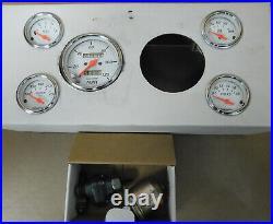 Auto Meter Arctic White Gauge Set, Speedo, Oil Press, Water Temp, volt, fuel level
