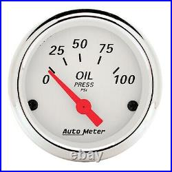 AutoMeter 1350 Arctic White 5 Gauge Set Fuel/Oil/Speedo/Volt/Water