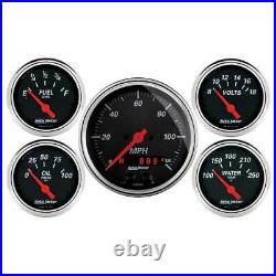 Autometer 5 Gauge 3-3/8 & 2-1/16 Speedo GPS/Water Temp/Oil Press/Fuel/Volt