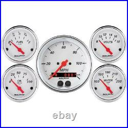 Autometer 5 Gauge Set with GPS Speedo/Fuel Level/Oil Press/Water Temp & Voltmeter