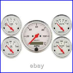Autometer 5 Gauge Set with with Elec Speedo/Fuel Level/Oil Press/ Volt/ Water Temp