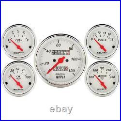Autometer 5 Gauge Set with with Mech Speedo/Fuel Level/Oil Press/Volt/Water Temp