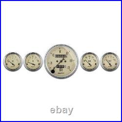 Autometer Beige 5 Mech Gauge Set with Speedo/Water Temp/Oil Press/Fuel Level/Volt