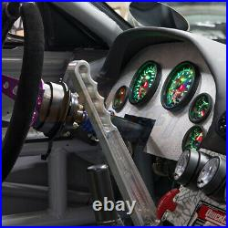 Black Gauge Cluster Dash Set w Speedo Tach Oil PSI Fuel Level Volt & Water Temp