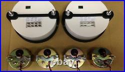 C2 Gauge Set, 5 inch Speedo/Tach, Black Dials, Black Bezels, 0-90 Ohm Fuel Lvl