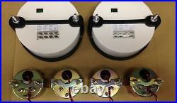 C2 Gauge Set, 5 inch Speedo/Tach, Black Dials, Silver Bezels, 0-90 Ohm Fuel Lvl