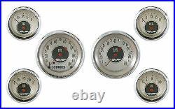 Classic Instruments All American Nickel Series 6 Gauge Set AN01SHC KPH Speedo