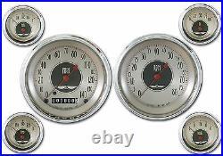 Classic Instruments All American Nickel Series 6 Gauge Set an51slc Speedo Tach