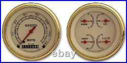 Classic Instruments VT02GLC Vintage 2 Gauge Set 3-3/8 Speedo/Quad GLC