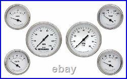 Classic Instruments White Hot Series WH01SLF 6 Gauge Set Speedo Tach Fuel Oil